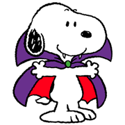 Snoopy Halloween Sticker for LINE & WhatsApp | ZIP: GIF & PNG