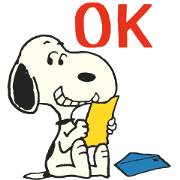 Snoopy: Peanuts (70's) Sticker for LINE & WhatsApp | ZIP: GIF & PNG