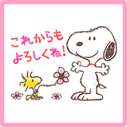 Snoopy Sakura Lot Stickers Sticker for LINE & WhatsApp | ZIP: GIF & PNG