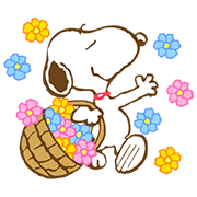 Super Spring Snoopy Animated Stickers Sticker for LINE & WhatsApp | ZIP: GIF & PNG