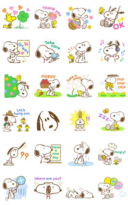 Super Spring Snoopy Animated Stickers Line Sticker GIF & PNG Pack: Animated & Transparent No Background | WhatsApp Sticker