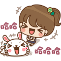 Taiwan Cooperative Bank i Miss × Kinoko Sticker for LINE & WhatsApp | ZIP: GIF & PNG
