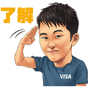 Team Visa Athlete Sticker Sticker for LINE & WhatsApp | ZIP: GIF & PNG