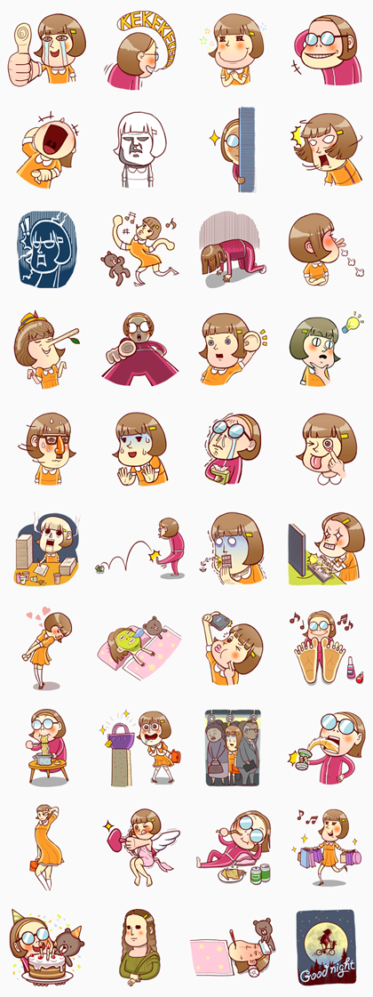 The Truth about Hannah Line Sticker GIF & PNG Pack: Animated & Transparent No Background | WhatsApp Sticker