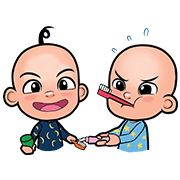 Upin & Ipin Sticker for LINE & WhatsApp | ZIP: GIF & PNG