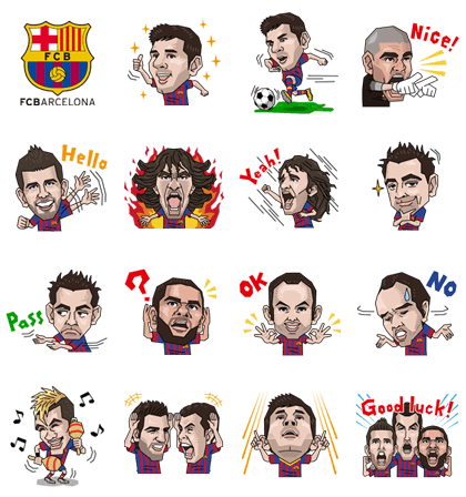 Welcome to Barcelona Line Sticker GIF & PNG Pack: Animated & Transparent No Background | WhatsApp Sticker