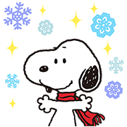 Wonderful Winter Snoopy Pop-Up Stickers Sticker for LINE & WhatsApp | ZIP: GIF & PNG