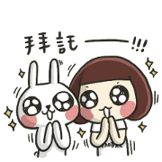 Zephyrine × Hello! Rabbits! &ZZ Sticker for LINE & WhatsApp | ZIP: GIF & PNG