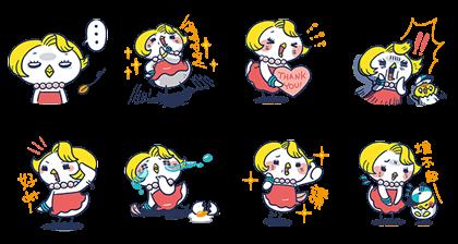 101 VIP × Chicken Mama Line Sticker GIF & PNG Pack: Animated & Transparent No Background | WhatsApp Sticker