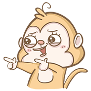 101 VIP: Happy Monkey Sticker for LINE & WhatsApp | ZIP: GIF & PNG