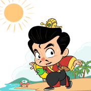 3KOK in Summer Paradise Sticker for LINE & WhatsApp | ZIP: GIF & PNG