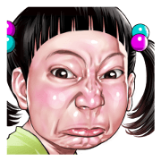 Angry face of children Sticker for LINE & WhatsApp | ZIP: GIF & PNG