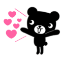 Animated Kurokuma-kun Sticker for LINE & WhatsApp | ZIP: GIF & PNG