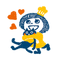 Animated Shea Butter-chan: Whipped Shea Sticker for LINE & WhatsApp | ZIP: GIF & PNG