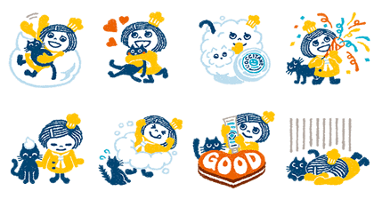 Animated Shea Butter-chan: Whipped Shea Line Sticker GIF & PNG Pack: Animated & Transparent No Background | WhatsApp Sticker