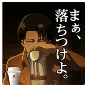 Attack on Titan Stickers for 7‐ELEVEn A Sticker for LINE & WhatsApp | ZIP: GIF & PNG