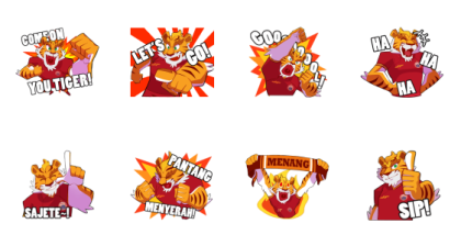 Bang J Persija Line Sticker GIF & PNG Pack: Animated & Transparent No Background | WhatsApp Sticker