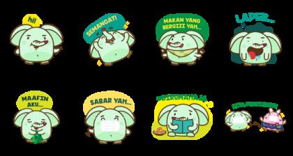 Berbagi Bersama Meyo Line Sticker GIF & PNG Pack: Animated & Transparent No Background | WhatsApp Sticker