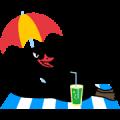Black Swan Sticker for LINE & WhatsApp | ZIP: GIF & PNG