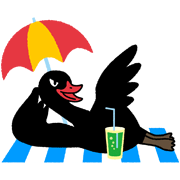 Black Swan Sticker for LINE & WhatsApp | ZIP: GIF & PNG