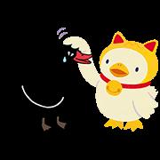 Black Swan Ver. 3 Sticker for LINE & WhatsApp | ZIP: GIF & PNG