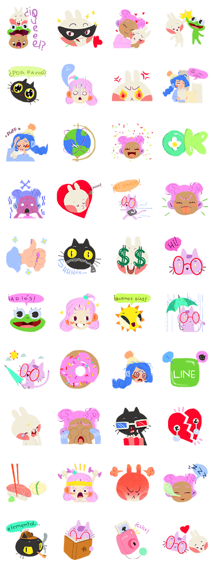 Bright and Happy Friends Return! Line Sticker GIF & PNG Pack: Animated & Transparent No Background | WhatsApp Sticker