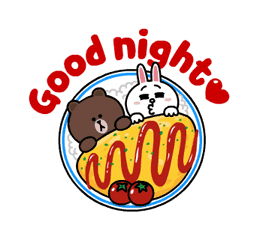Brown and Cony Fun Size Pack Sticker for LINE & WhatsApp | ZIP: GIF & PNG