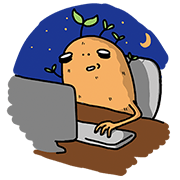 Buy123 - Potato Life Sticker for LINE & WhatsApp | ZIP: GIF & PNG