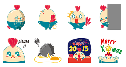 Buy123 x The Happy Egg Line Sticker GIF & PNG Pack: Animated & Transparent No Background | WhatsApp Sticker
