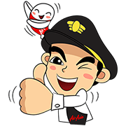 Captain AA & Nong Air Travel in Asia Sticker for LINE & WhatsApp   ZIP: GIF & PNG