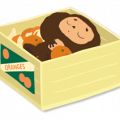 Cheburashka Sticker for LINE & WhatsApp | ZIP: GIF & PNG