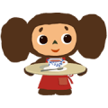 Cheburashka: Animated Stickers Sticker for LINE & WhatsApp | ZIP: GIF & PNG