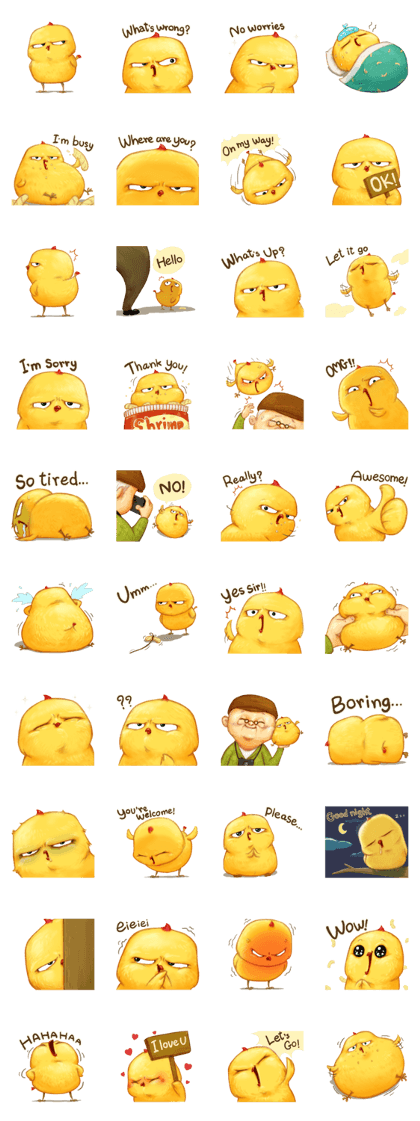 Cheez...z : Warbie & Yama Line Sticker GIF & PNG Pack: Animated & Transparent No Background | WhatsApp Sticker