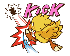 Chocobo Sticker for LINE & WhatsApp | ZIP: GIF & PNG