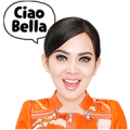 Ciao Bella, Syahrini! Sticker for LINE & WhatsApp | ZIP: GIF & PNG