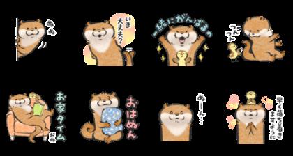 Cute lie otter: Conversation Starters Line Sticker GIF & PNG Pack: Animated & Transparent No Background | WhatsApp Sticker