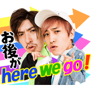 Daruchara comedian EXIT's sticker Sticker for LINE & WhatsApp | ZIP: GIF & PNG