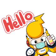 ENGY is always with you. Sticker for LINE & WhatsApp   ZIP: GIF & PNG