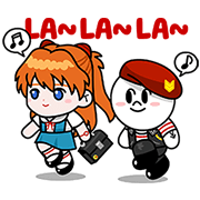 EVANGELION x Rangers Collaboration Sticker for LINE & WhatsApp | ZIP: GIF & PNG