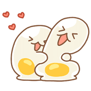 Egg Sticker for LINE & WhatsApp | ZIP: GIF & PNG