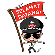 Fly with AirAsia Sticker for LINE & WhatsApp | ZIP: GIF & PNG