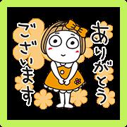 Hanako Friendly Greetings Sticker for LINE & WhatsApp | ZIP: GIF & PNG