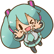 Hatsune Miku: All Together Sticker for LINE & WhatsApp | ZIP: GIF & PNG