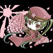 Hatsune Miku senbonsakura Sticker for LINE & WhatsApp | ZIP: GIF & PNG