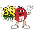 Irresistable M&M's with LINE Sticker for LINE & WhatsApp | ZIP: GIF & PNG