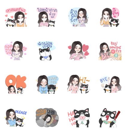 J'Beaut & Jodd: Stay Healthy,Fight Covid19 Line Sticker GIF & PNG Pack: Animated & Transparent No Background | WhatsApp Sticker