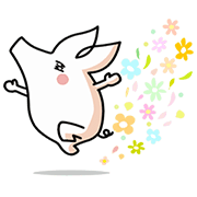 Joboob - When Pig's Fly (Animated) Sticker for LINE & WhatsApp | ZIP: GIF & PNG