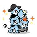 KRUNK × BIG BANG: Animated Stickers Sticker for LINE & WhatsApp | ZIP: GIF & PNG
