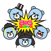 KRUNK x BIGBANG Sticker for LINE & WhatsApp | ZIP: GIF & PNG