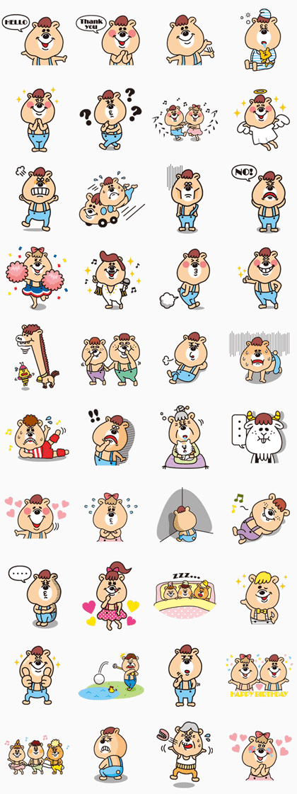 KUMATAN Line Sticker GIF & PNG Pack: Animated & Transparent No Background | WhatsApp Sticker